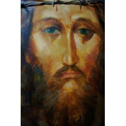 Oblicze Jezusa, deska 40/30 cm