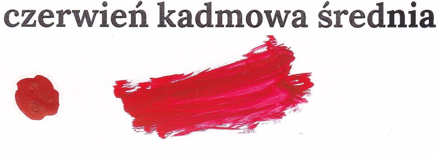 Czerwień kadmowa średnia