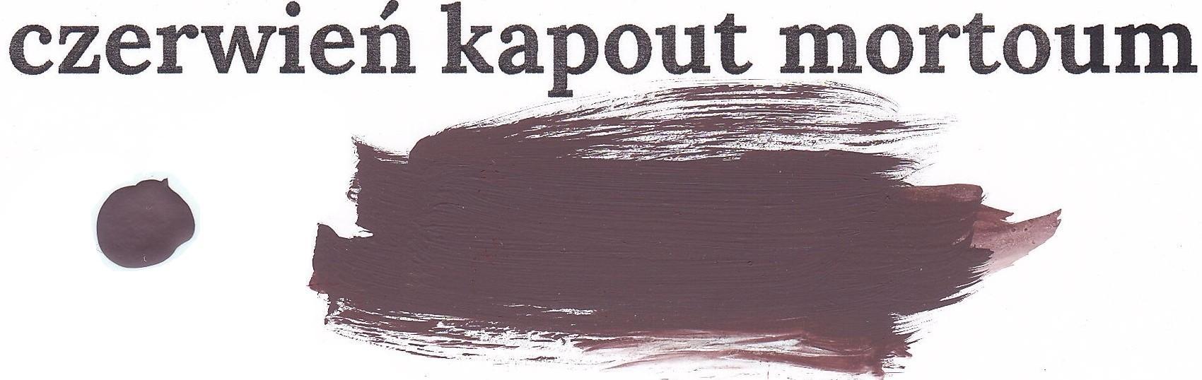 Czerwień kapout mortoum