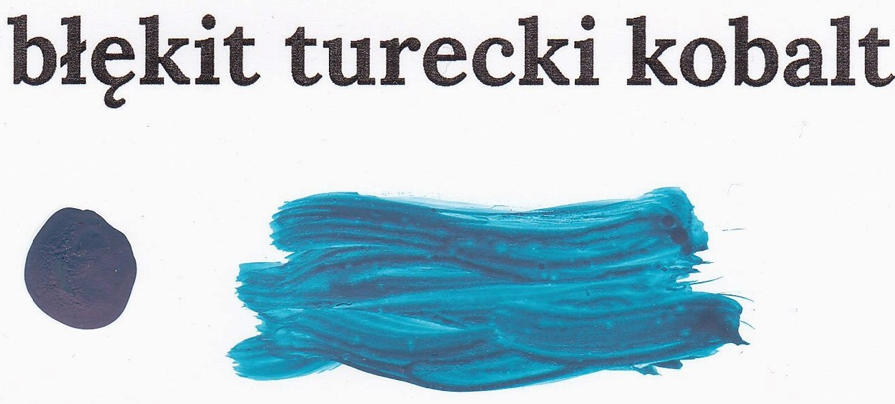 Błękit turecki kobalt