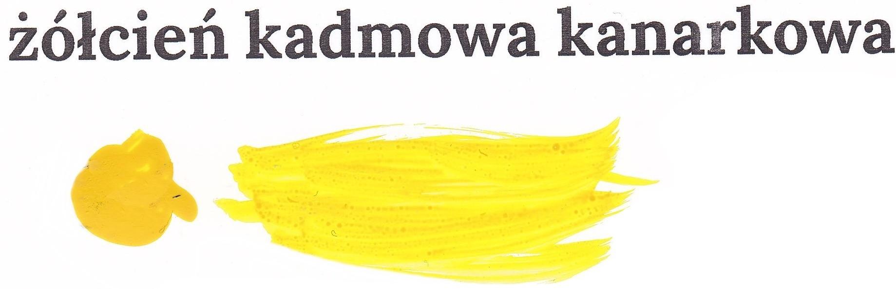 Żółcień kadmowa kanarkowa